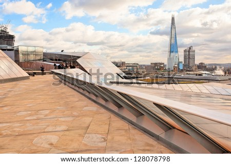 London Skyline (City and business center) - stock photo
