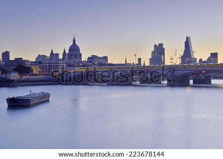 London skyline, England UK - stock photo