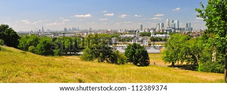 London skyline from Greenwich, uk