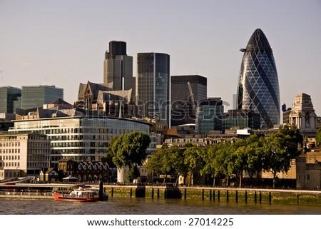 London Skyline, London, England UK - stock photo