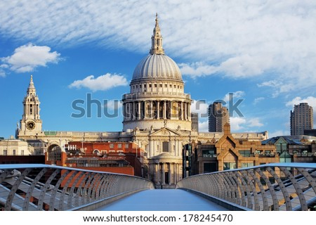 London - St Paul Cathedral, UK - stock photo