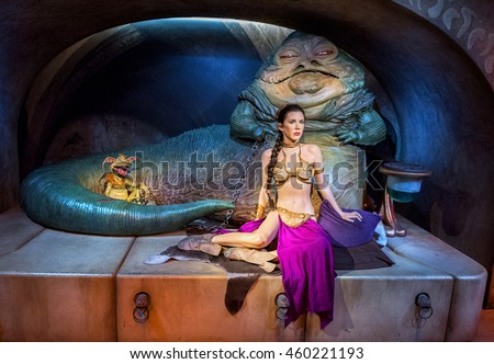 Jabba Stock Images, Royalty-Free Images & Vectors ... Jabba The Hutt And Leia