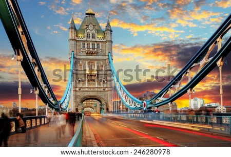 London, Tower Bridge - stock photo
