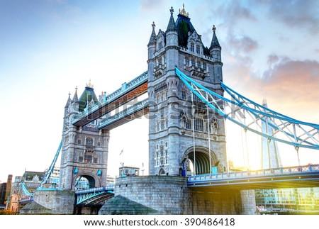London Tower Bridge - stock photo