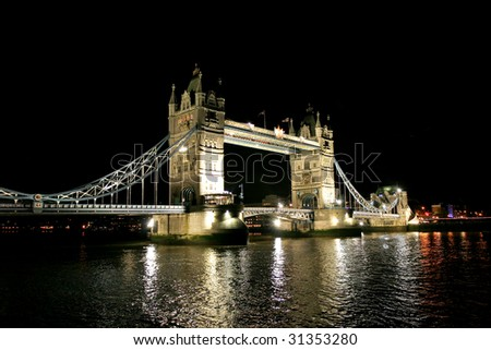 London Tower bridge in the night