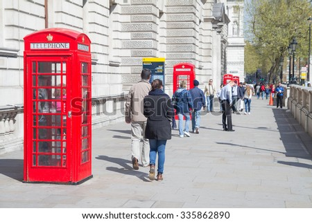LONDON, UK - Apr 13: Visitors visited at London on Apr 13, 2011 in London, UK. London is one of the most big city in the world with population 8.6 millions people in 2015.