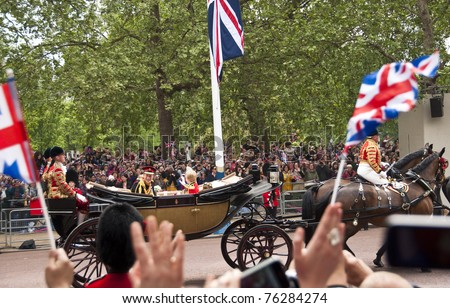 LONDON, UK - APRIL 29: Prince Harry at Prince William and Kate Middleton wedding, April 29, 2011 in London, United Kingdom - stock photo