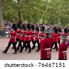 LONDON, UK - APRIL 29: Royal guards at Prince William and Kate Middleton wedding, April 29, 2011 in London, United Kingdom - stock photo