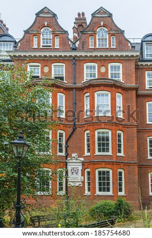 LONDON, UK - AUGUST 11, 2013: View Area of Burnton buildings in London. - stock photo