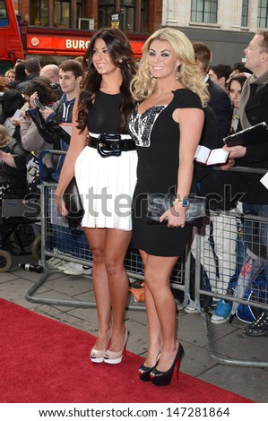 London, UK. Cara Kilbey and Billi Mucklow at the We Will Rock You 10th Anniversary Performance at the Dominion Theatre, Tottenham Court Road. 14th May 2012.