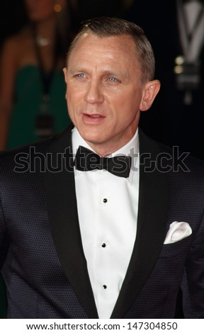 London, UK. Daniel Craig at the Royal World Premiere of 'Skyfall' at the Royal Albert Hall, Kensington. 23rd October 2012.  - stock photo
