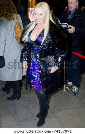LONDON, UK - JAN. 31: Pamela Stephenson arrives at the Launch of Midnight Tango in  London on the January 31, 2012 in London, UK