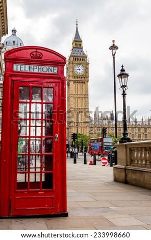 London, UK-July 04, Big Ben, July 04.2014 in London - stock photo