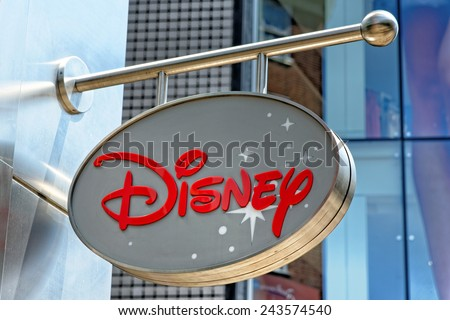 LONDON, UK - JULY 1, 2014: Disney Store exterior view in Oxford Street, London. Disney Store chain was founded in 1987 and has 479 locations. - stock photo