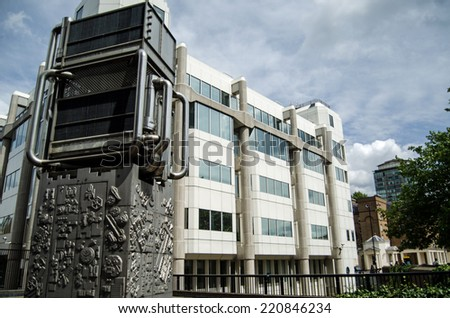LONDON, UK - JULY 6, 2014:  Headquarters of the Office for National Statistics in Pimlico, London.  The organisation produces figures covering many aspects of life in Britain including a  census. - stock photo