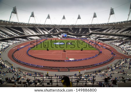 LONDON, UK - JULY 21: Inside the London Olympic Stadium' in London on the July 21, 2013 in London, UK