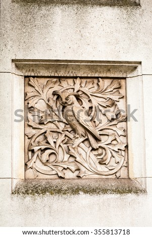 LONDON, UK - JULY 27, 2015: Natural History museum - building and architectural details - stock photo