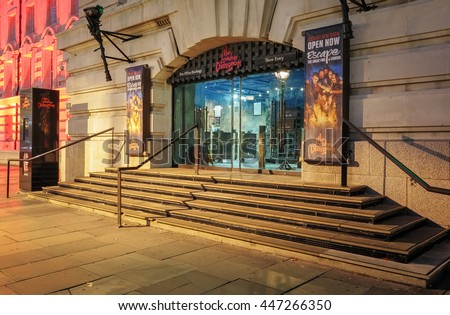 London,UK JULY 03, 2016: The London Dungeon is a tourist attraction in London, England, which recreates various gory and macabre historical events in a gallows humour style. - stock photo