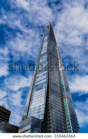 London, UK - July 10, The Shard tallest building in the European Union, July 10.2014 in London