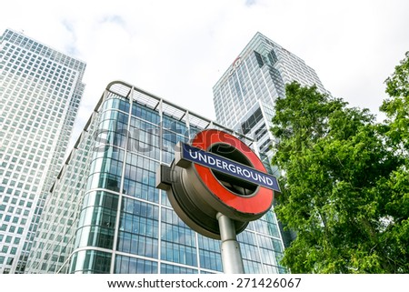 London, UK-July 20, the sign of the London Underground, July 20.2014 in London