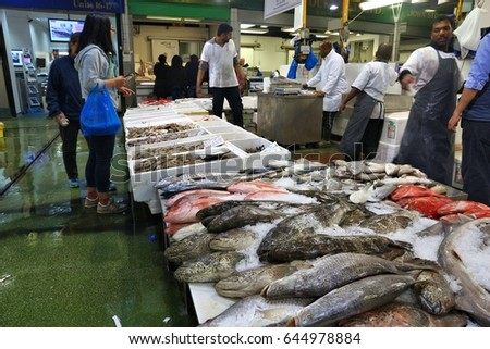Isle of dogs stock images royalty free images vectors for Sea world fish market