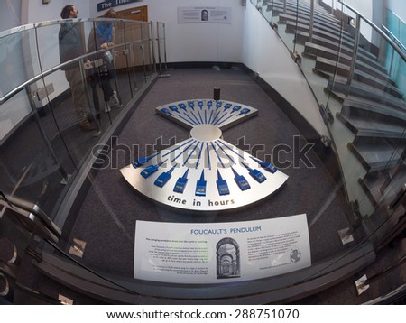 LONDON, UK - June 14 2015: An interior shot of the Science Museum in London on 14 June 2015. - stock photo