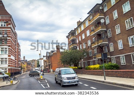 london uk june 5 2015 old apartment red brick houses in the - Brick Apartment 2015