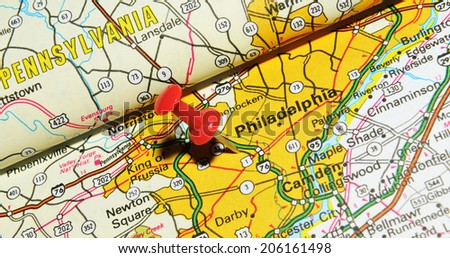 Philadelphia Map Stock Images RoyaltyFree Images Vectors - Philadelphia on the us map