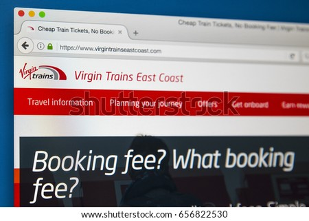 homepage Virgin trains
