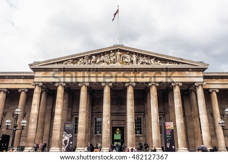LONDON, UK - JUNE 09, 2015: The British Museum (HDR)