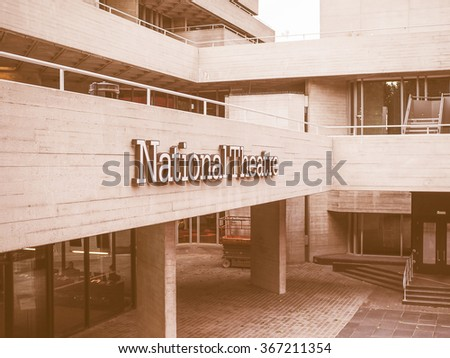 LONDON, UK - JUNE 09, 2015: The National Theatre designed by Sir Denys Lasdun is a masterpiece of new brutalist architecture vintage