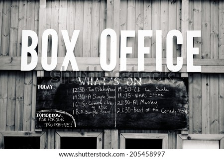 LONDON, UK - JUNE 21 2014: The Southbank Centre, Box Office for Udder Belly Festival, London.