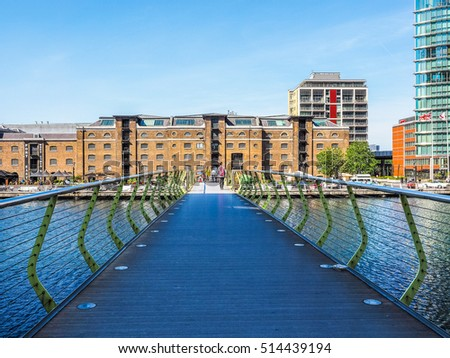 LONDON, UK - JUNE 11, 2015: Tourists visiting West India Quay in Docklands (HDR)
