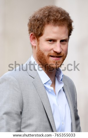 London, UK. 16 March, 2017. Prince Harry attends the Veterans' Mental Health Conference at King­s College London.