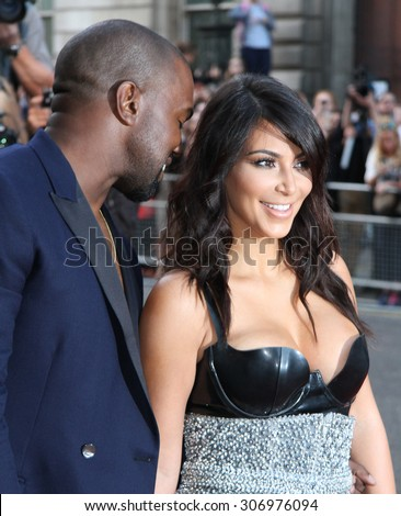 London, UK, 2nd September 2014: Kim Kardashian and Kanye West attend the GQ Men of the Year awards at The Royal Opera House in London, UK. - stock photo