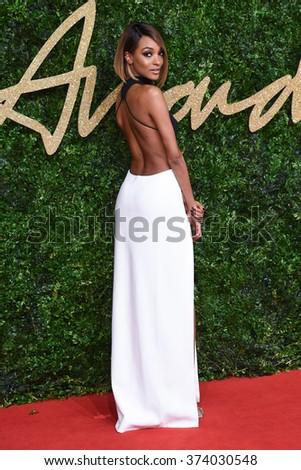 LONDON, UK - NOVEMBER 23, 2015: Jourdan Dunn at the British Fashion Awards 2015 at the Coliseum Theatre, London. November 23, 2015  London, UK Picture: Steve Vas / Featureflash - stock photo