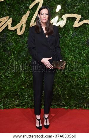 LONDON, UK - NOVEMBER 23, 2015: Liv Tyler at the British Fashion Awards 2015 at the Coliseum Theatre, London. November 23, 2015  London, UK Picture: Steve Vas / Featureflash - stock photo