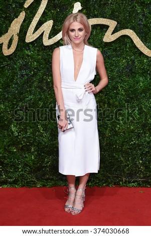 LONDON, UK - NOVEMBER 23, 2015: Pixie Lott at the British Fashion Awards 2015 at the Coliseum Theatre, London. November 23, 2015  London, UK Picture: Steve Vas / Featureflash - stock photo