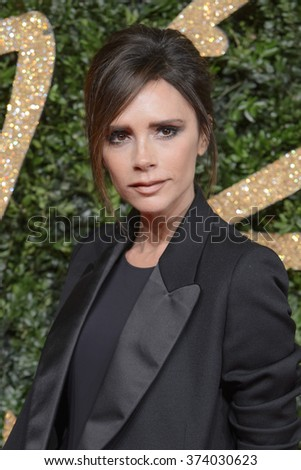 LONDON, UK - NOVEMBER 23, 2015: Victoria Beckham at the British Fashion Awards 2015 at the Coliseum Theatre, London. November 23, 2015  London, UK Picture: Dave Norton / Featureflash