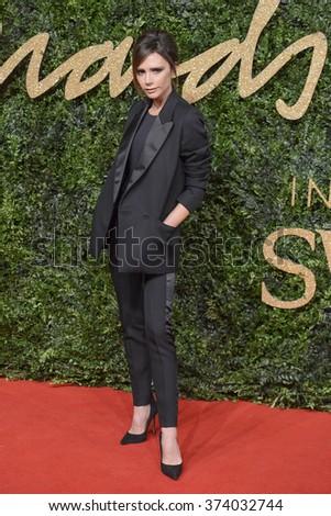 LONDON, UK - NOVEMBER 23, 2015: Victoria Beckham at the British Fashion Awards 2015 at the Coliseum Theatre, London. November 23, 2015  London, UK Picture: Dave Norton / Featureflash - stock photo