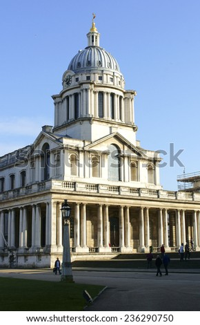 LONDON, UK - NOVEMBER 29: Visitors and tourists visit the Royal Naval College in Greenwich on November 29, 2014 in London / Royal Naval College