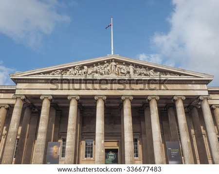 LONDON, UK - SEPTEMBER 28, 2015: the British Museum
