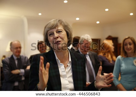London, UK, 30th June, 2016. Theresa May gives a talk on the Brexit and local matters to the Hampstead and Kilburn Conservative Association