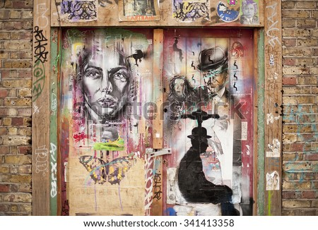 Brick Wall Graffiti Stock Images Royalty Free Images