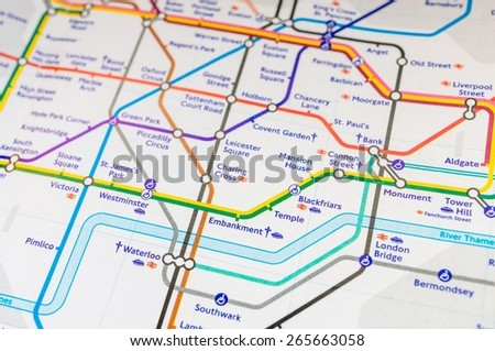 London underground map - stock photo