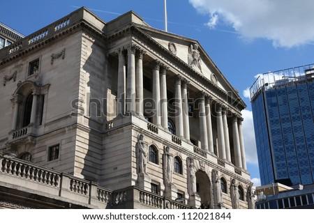 London, United Kingdom - Bank of England building - stock photo