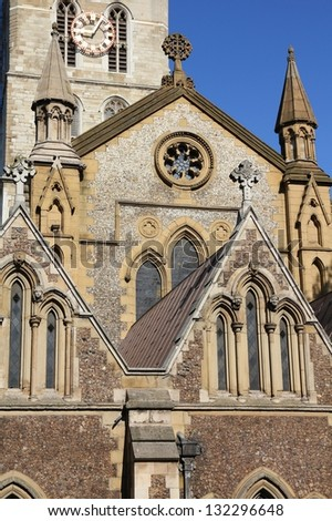 London, United Kingdom - famous Southwark Cathedral church