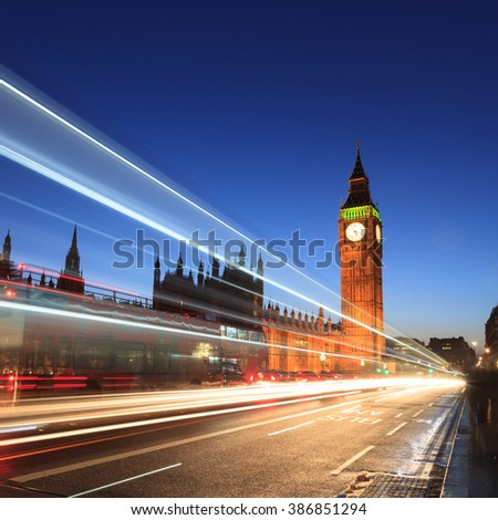 LONDON, UNITED KINGDOM -?? 22 JANUARY 2016: Big Ben and house of parliament at twilight, London, UK