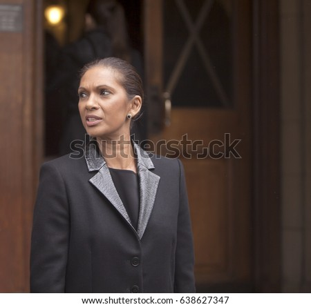 London, United Kingdom - May 12, 2017: Gina Miller Attends Conference on Brexit. A conference on the aftermath of Brexit was opened by Gina Miller, a key figure in the anti-Brexit campaign.