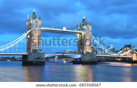 London, United Kingdom - MAY 3th, 2014: Tower bridge of Londpn that is famous landmark